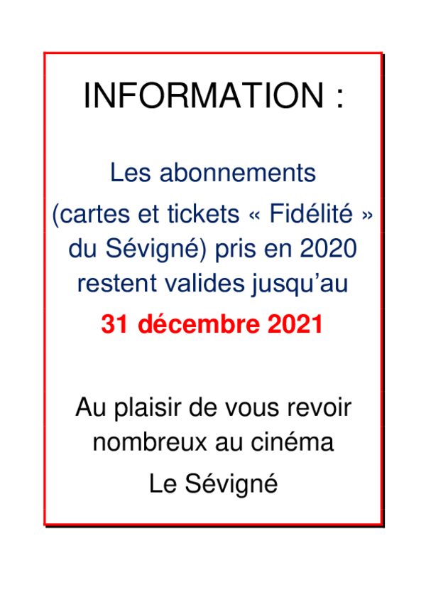 Prolongation abonnements